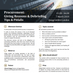 Procurement - Giving Reasons and Debriefing - Flyer