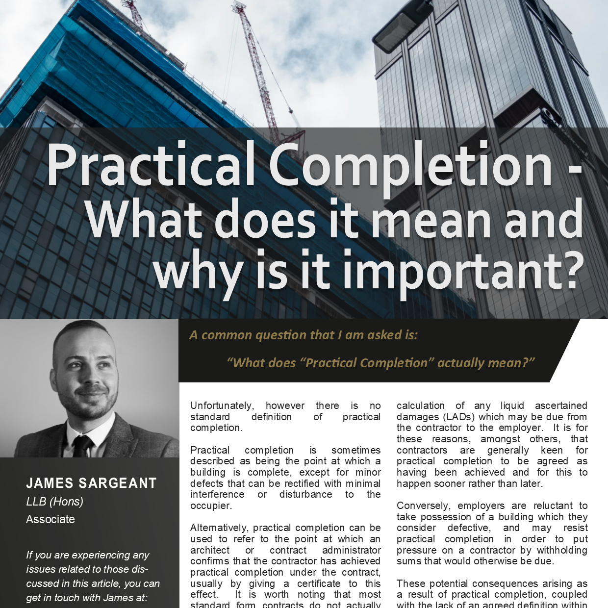 Practical Completion - Meaning and Importance - Download