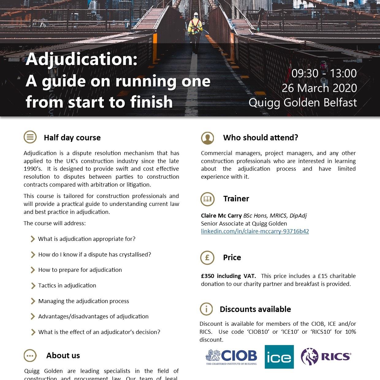 A guide to adjudication flyer Link PDF