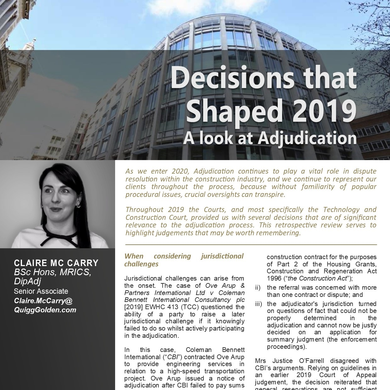 Article PDF link - Decisions that Shaped 2019 - Adjudication