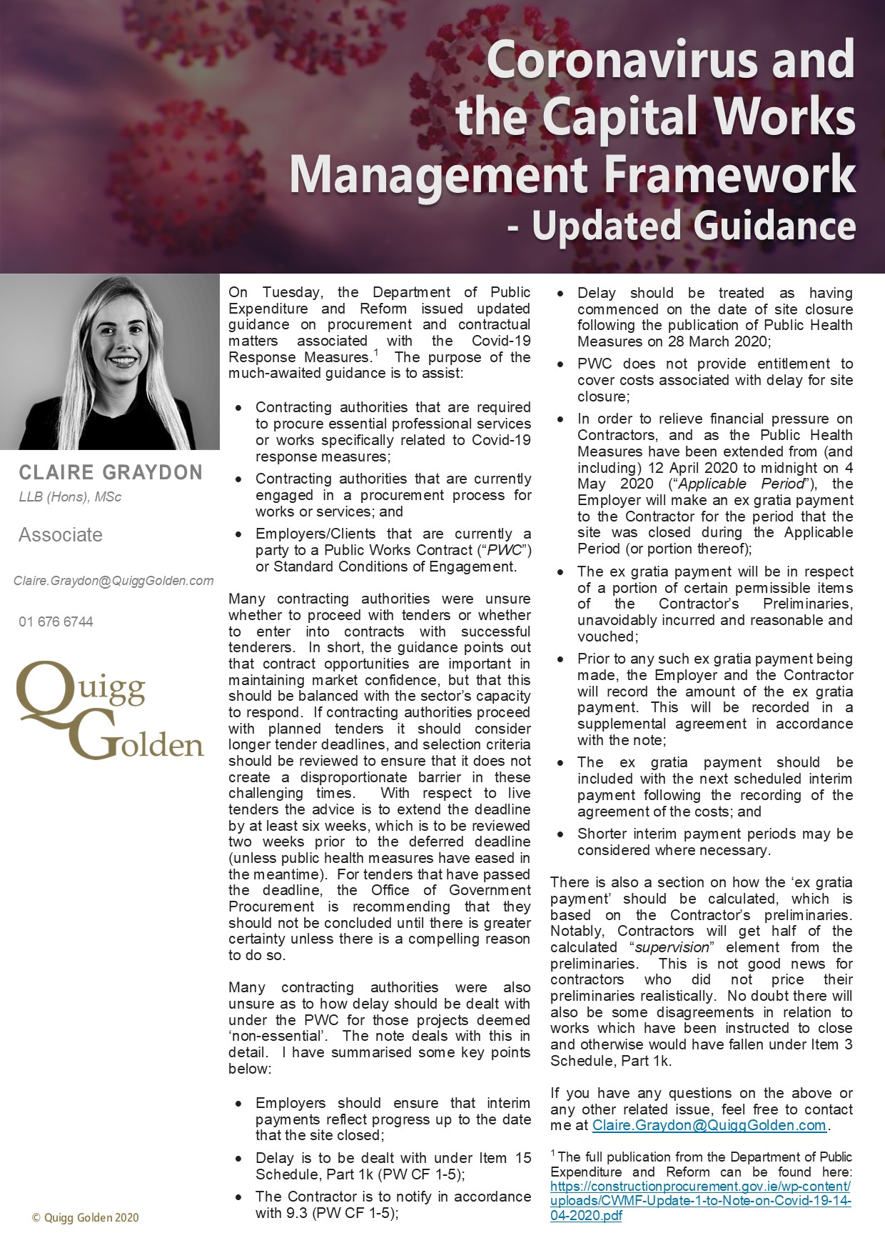 Covid-19 and Capital Works Management Framework Article