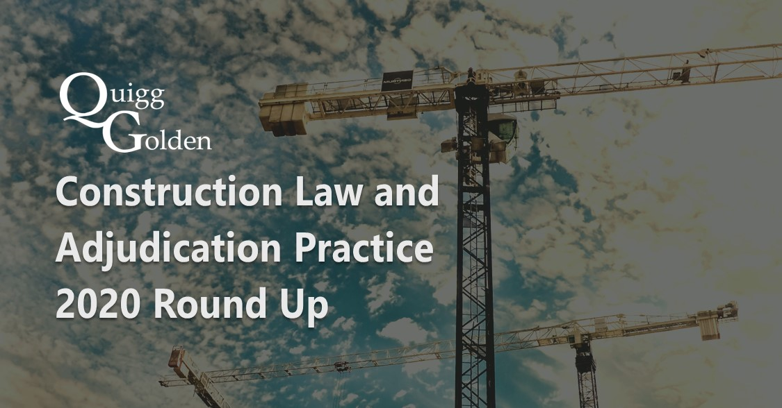 Construction Law and Adjudication Practice 2020
